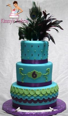 Peacock Themed Cake