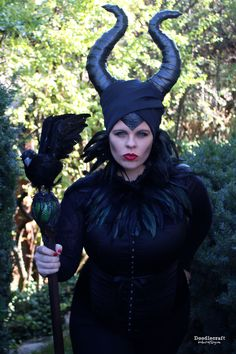 Maleficent Costume!  DIY Movie costume including robe, head piece and horns!