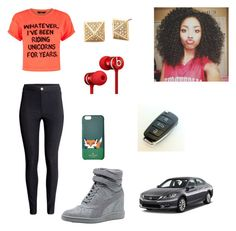 """""""WHAT"""" by zendaya090 ❤ liked on Polyvore featuring H&M, Puma, Beats by Dr. Dre and Kate Spade"""