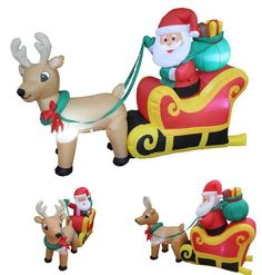 Santa Claus Inflatable 6 FT Long Sleigh Reindeer Holiday Gift Xmas Yard Decor #Blossom=> Easy & pleasant transaction => Quick delivery => 100% Feedback => http://bit.ly/24_hours_open #Christmas,#tree,#decor,#Santa,#xmas,#decoration,#inflatable,#holiday,#party,#sandaclaus,#yard,#garden,#patio,#accessories