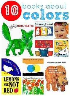 10 Picture Books About Colors! #kidlit