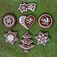 Christmas Deserts, Christmas Dishes, Christmas Gingerbread, Christmas Treats, Christmas Art, Christmas Baking, Gingerbread Cookies, Christmas Cookies, Fancy Cookies