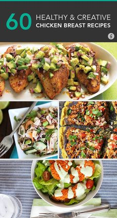 60 Awesome Ways to Spice Up Boring Chicken Breasts — Tired of the same boring chicken? Never fear, we're here to to spice up your meals with these easy and healthy recipes. #healthy #chicken #recipes #greatist