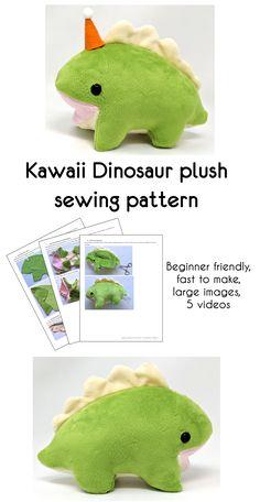 Plushie Patterns, Animal Sewing Patterns, Sewing Patterns Free, Sewing Toys, Sewing Crafts, Sewing Projects, Sewing Stuffed Animals, Stuffed Animal Patterns, Plush Craft