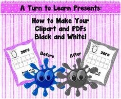 How to Make Your Clipart and PDFs Black and White