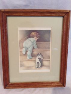 NiteyNite signed matted and wood framed by DerBayzVintage on Etsy, $25.00 #EtsyAAA