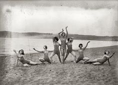 Martha Graham in the centre with Louise Brooks second from the right  The Denishawn Dancers circa 1920.