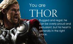 I. AM. THOR. BOOYA. Superhero personality quiz