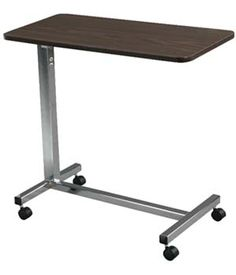 Deluxe Non-tilt Overbed Table $105.00 FREE Shipping from uCan Health || Non-tilt Overbed Table Table Top Is Locked Securely When Height Adjustment Handle Is Released.