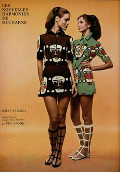 1970s Louis Féraud ad, mini dress