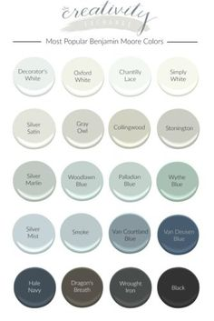 Most Popular Benjamin Moore Paint Colors