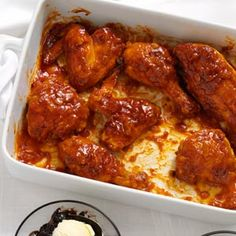 Oven Barbecued Chicken Recipe from Taste of Home -- shared by Esther Shank of Harrisonburg, Virginia