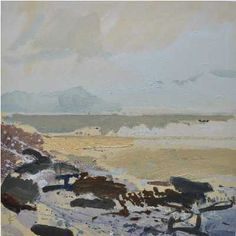 Lucie Bray, 1974-2014, British.  Porthmeor from Mans Head  Tribute: http://newcraftsmanblog.wordpress.com/2014/02/04/in-tribute-to-st-ives-artist-lucie-bray-1974-2014/