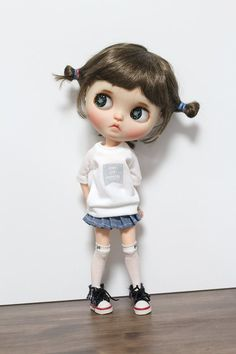 Blythe clothes Never stop dreaming T-shirt outfit doll clothes for Blythe, Pure neemo S Trash To Couture, Blythe Dolls, Barbie Dolls, Cute Girl Drawing, Sailor Moon Art, Cute Cartoon Wallpapers, Kawaii Shop, Other Outfits, Anime Art Girl