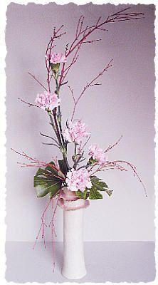 Pale Pink Ikebana Style Flower Arrangement – Dot Com Women Ikebana Arrangements, Ikebana Flower Arrangement, Church Flower Arrangements, Church Flowers, Beautiful Flower Arrangements, Floral Arrangements, Beautiful Flowers, Simple Flowers, Dried Flowers