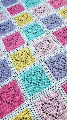 Filet Heart Crochet Baby Blanket,Filet Heart Crochet Baby Blanket Make crochet blankets your self Who does not love a blanket where you can cover up and loosen up in cold temperatures. Crochet Baby Blanket Free Pattern, Baby Girl Crochet Blanket, Crochet Square Patterns, Crochet Squares, Free Crochet, Crochet Blankets, Baby Blankets, Filet Crochet Charts, Crochet Stitches