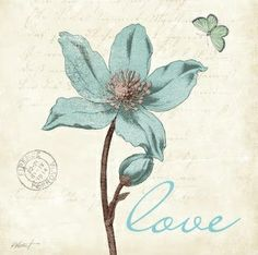 Amanti Art 'Touch of Blue IV Love' by Katie Pertiet Framed Art Print Love Frames, Frames On Wall, Framed Wall Art, Framed Art Prints, Fine Art Prints, Canvas Prints, Flower Painting Canvas, Canvas Artwork, Spray Painting