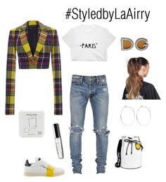 """Untitled #326"" by airis-kemp on Polyvore featuring Dolce&Gabbana, Joshua's, Versace, Balmain, Happy Plugs and Catbird"