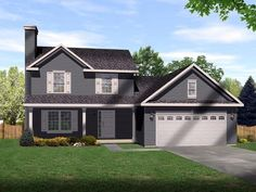 Country   House Plan 49083  1700 sq ft. 1049 main and 651 upper