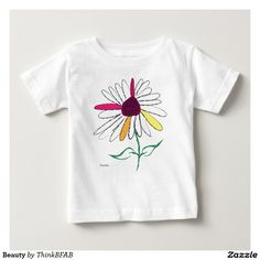 Shop Beauty Baby T-Shirt created by ThinkBFAB. Consumer Products, Basic Colors, Cotton Tee, Sensitive Skin, My Love, Tees, Mens Tops, Baby, How To Wear