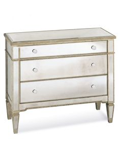 Marais 3 Drawer Mirrored Chest - Dressers & Chests - Furniture - Macy's