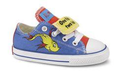 One shoe, Two shoe; Red shoe, Blue shoe.