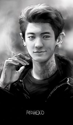 something for a business card to bring to conventionssss so much chanyeol lately OTL do not edit or repost