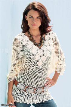 Blusa crochet esquemas   Manualidades