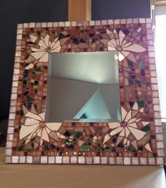 Mosaic Mirror - designed & made by Andrea Ziebarth