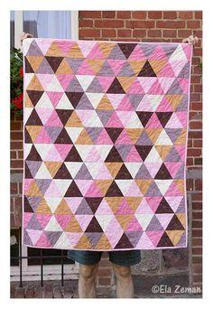 patchwork z trójkątów