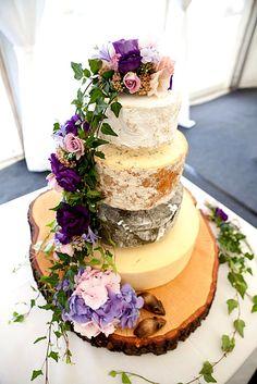 5 Steps To A Perfect Cheese Wheel Wedding Cake ❤ See more: http://www.weddingforward.com/cheese-wheel-wedding-cake/ #wedding #cakes #cheese