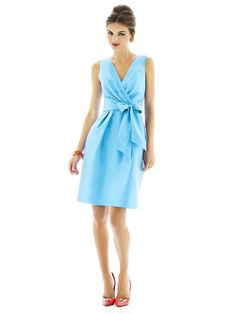 Alfred Sung Style D597    #blue #bridesmaid #dresses