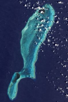 Lighthouse Reef as seen from space