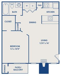22 X 27 Apartment Plans | McCallum Glen Plan 600   UTD Off Campus Housing  Plan 600 1 Bedroom, 1 .