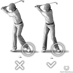 Keep left heel on the ground swing thought