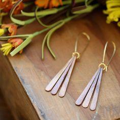 Fab.com   Teak Wood Fan Earrings