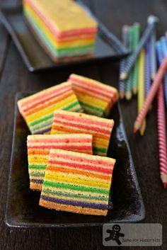 Bake for Happy Kids: Rainbow Kek Lapis / Lapis Legit / Spekkoek/ Indone...