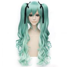 SHARE & Get it FREE   Trendy Long Wavy Green Ombre Charming Takatsuki Sen Cosplay Wig with BunchesFor Fashion Lovers only:80,000+ Items·FREE SHIPPING Join Dresslily: Get YOUR $50 NOW!