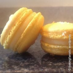 Pineapple and coconut macarons