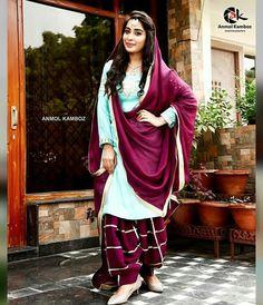 Zikimo Fashion added a new photo. Patiala Suit Designs, Kurta Designs Women, Kurti Designs Party Wear, Designer Punjabi Suits, Indian Designer Outfits, Punjabi Suit Simple, Chudidhar Designs, Patiyala Dress, Suits For Women