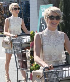 Julianne Hough pixie  http://top.yournextshoes.com/2014/02/julianne-hough-pixie-cut-lace-top/