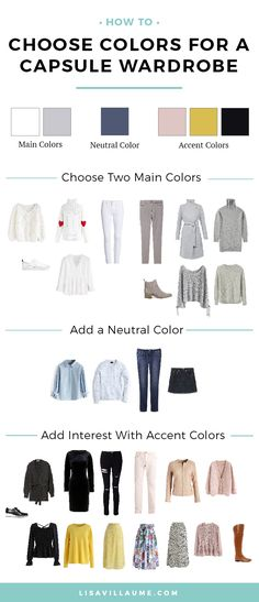 How to Choose Colors for a Capsule Wardrobe When creating your Capsule Wardrobe often the first thing that is overlooked is a colors. Let's take a look at how to choose colors pallete for your capsule wardrobe so everything works together perctly. Capsule Wardrobe Women, Capsule Outfits, Fashion Capsule, Wardrobe Basics, Summer Work Wardrobe, College Wardrobe, Minimalist Wardrobe Essentials, Professional Wardrobe, Perfect Wardrobe