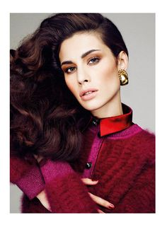 Marica Pellegrinelli Sports 80's Glam for S Moda   Fashion Gone Rogue: The Latest in Editorials and Campaigns