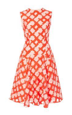 Sleeveless Godet Dress by LELA ROSE for Preorder on Moda Operandi