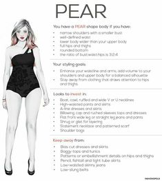 Pear shape ladies are those who are bigger at the bottom and Slimmer at the top. It is not to be confused with hourglass shape. Trust me pear shape ladies are very shapely or over shapely I would s…