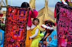 Embroidered rugs in Peru. Photo by Lance Wilson