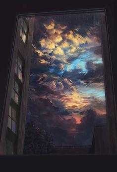 25 New ideas for fantasy art painting sky Aesthetic Iphone Wallpaper, Aesthetic Wallpapers, Sky Aesthetic, Korean Aesthetic, Animation Background, 80s Background, Anime Scenery, Cute Wallpapers, Phone Wallpapers