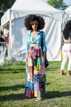 ELLE.com photographer Tyler Joe captures the best street style from Afropunk.