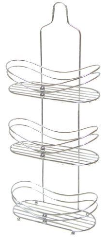 "Aquatico Flat-Base 3 Tier Shower Caddy, Chrome by AQUATICO. $37.50. Multiple Storage. Sophisticated Style & Design. Easy Installation. Hanging or Free Standing. Space Saving. Aquatico JL-4618-SHE  3 Tier Chrome Hanging Shower Caddy - Open Hook Curved Design , The Aquatico Brand of the finest innovative fashion bathroom accessories is synonymous with Quality, Value & Design and has been the choice of consumers for the last 40 years. This Chrome ""finish"" Exquisite  3 Tier ..."