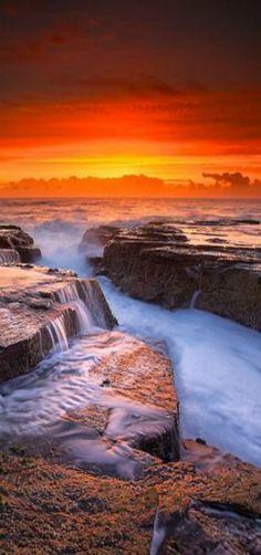 'Narrabeen Inferno' - Seascape Sunrise, Sidney, Australia | by Noval Nugraha